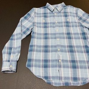 Lucky Brand Mens Blue Flannel LS Size M GUC